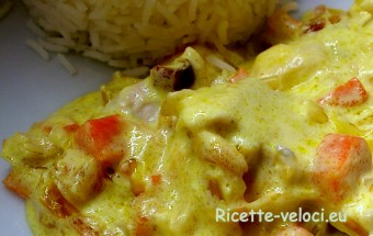 pollo al curry e panna